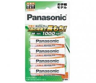 充電式エボルタ 単3形4本パック(お手軽モデル) [BK-3LLB-4B] -パナソニック(Panasonic)電池 充電器 充電池 防災 家電