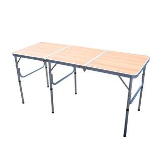折り畳み式アウトドアテーブル 1815 木目 [PC1815W] SIS アウトドア キャンプ バーベキュー BBQ イベント 長机