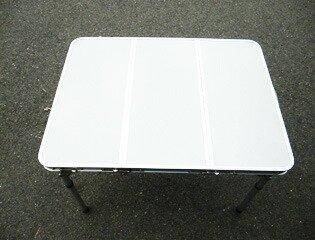 折り畳み式アウトドアテーブル 幅80センチ [PC1880] SIS キャンプ バーベキュー BBQ レジャー 高さ調節