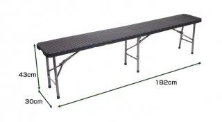 ラタン調フォールディングチェア [YS-ZD183-2] SIS いす イス 椅子 アウトドア スポーツ観戦 イベントで大活躍!