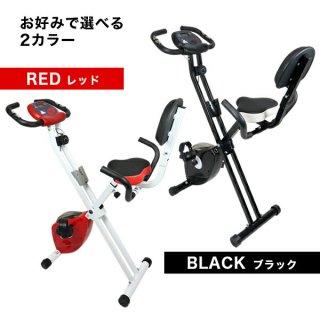フィットネスバイク [YS-F04] SIS 背もたれ付き 多機能メーター 折りたたみ キャスター付き ダイエット トレーニング エクササイズ 運動 室内