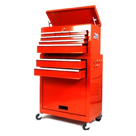 キャスター付キャビネット 工具ボックス220AB(工具箱)[XTB220AB]- SIS  キャスター付き 鍵付き キャビネット 工具箱