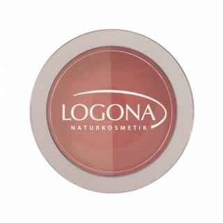 LOGONA(ロゴナ) チークカラー(デュオ)02ピーチ&アプリ