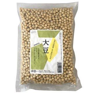 GAIA(ガイア)大豆(トヨムスメ・トヨマサリ) 1kg (農薬・化学肥料不使用 / 北海道産)
