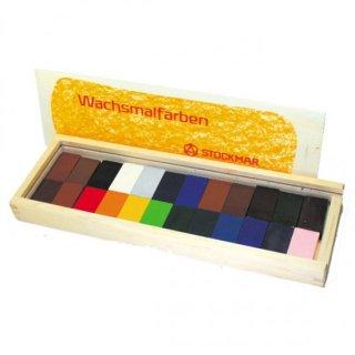 みつろうブロッククレヨン 24色木箱