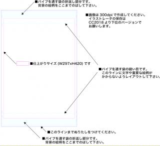 【タテ】A3タペストリー用テンプレート