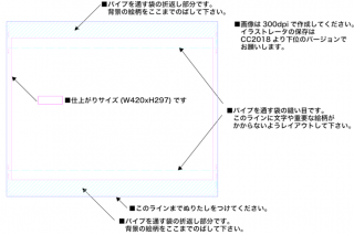 【ヨコ】A3タペストリー用テンプレート