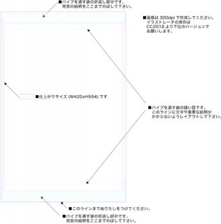 【タテ】A2タペストリー用テンプレート