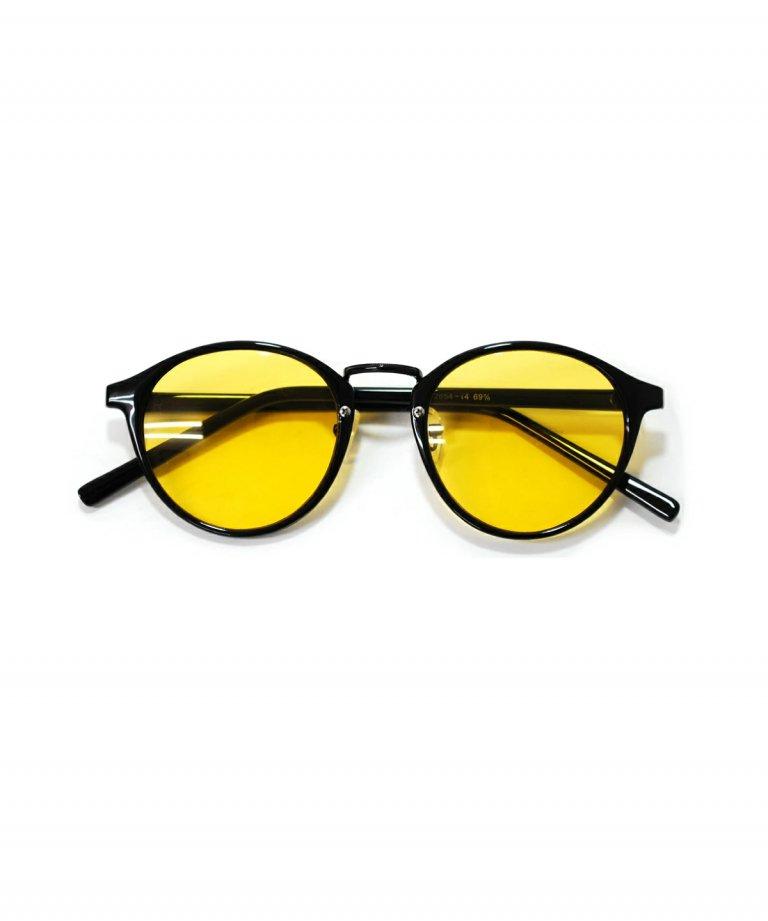 <img class='new_mark_img1' src='https://img.shop-pro.jp/img/new/icons8.gif' style='border:none;display:inline;margin:0px;padding:0px;width:auto;' />BLACK×BOX Smoke Lens Sunglasses YEL smoke