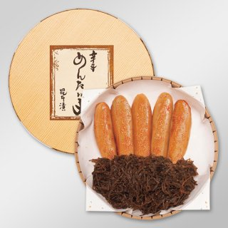 昆布漬辛子明太子〈木目調タル型化粧箱入〉