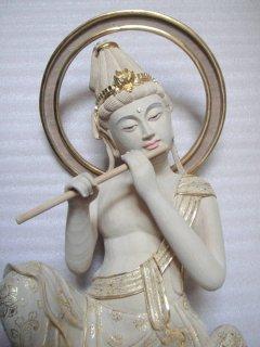 雲中供養菩薩像➀ 金線入 白木仕上 総丈2尺