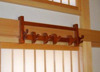 法具掛 欅製 擦漆仕上