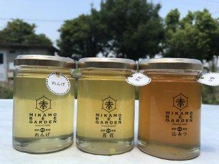 【ギフト向き】美甘養蜂園 はちみつ3本セット