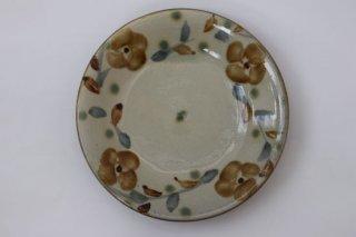 陶器工房風香原 皿7寸 花