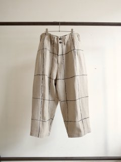 <img class='new_mark_img1' src='https://img.shop-pro.jp/img/new/icons13.gif' style='border:none;display:inline;margin:0px;padding:0px;width:auto;' />DRAWING CHECK LINEN WIDE PANTS
