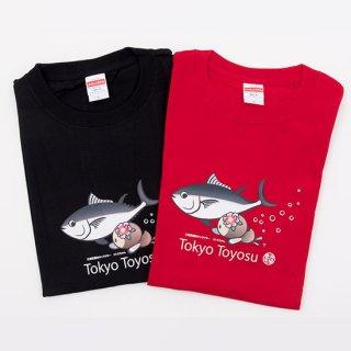 鮪と泳ぐコトミちゃんTシャツ(黒)【コラボ】【コトミちゃん】