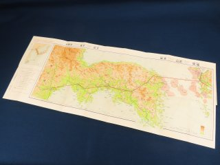 日本航空輸送株式会社 定期航空路地図 福岡ー新義州(朝鮮)