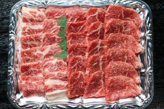 【焼肉用カルビ、ロース】 1kg(4〜5人前)