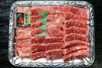 【知多牛 焼肉用カルビ、ロース】 1kg(4〜5人前)