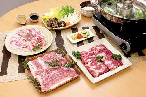 【しっとりとした肉質ととろける甘み】ケンボロー・ホエー豚4種しゃぶしゃぶセット4人前(送料込)