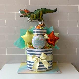 おむつケーキ ダイナソー恐竜