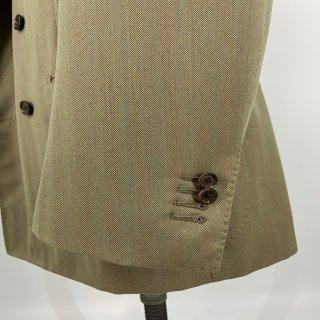 メンズジャケット袖丈詰め 本切羽4センチ以内|本開き 本切羽