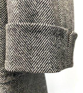 コート袖丈詰めターンナップカフ仕上げ|メンズ・レディースコート袖丈詰め ターンナップカフ