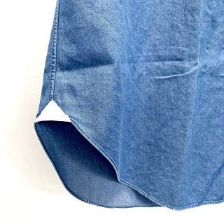シャツ着丈詰めガゼット付き