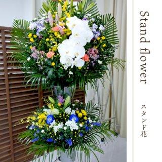 通夜・葬儀用  生花スタンド 2段(胡蝶蘭付き)