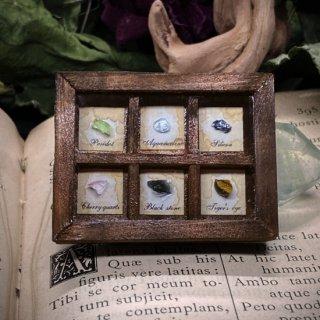 【追憶の蒐集】 鉱物標本箱 落ち着いた色合い