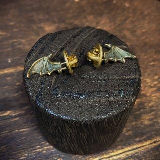 【kaus】ハットアクセサリー bat's wing コウモリの翼のハットピン