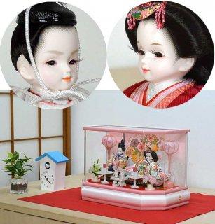 桜子ピンク親王収納飾りセット