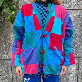 Square Patchwork Reversible Jacket