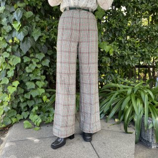 <img class='new_mark_img1' src='https://img.shop-pro.jp/img/new/icons14.gif' style='border:none;display:inline;margin:0px;padding:0px;width:auto;' />Wool Check Pants