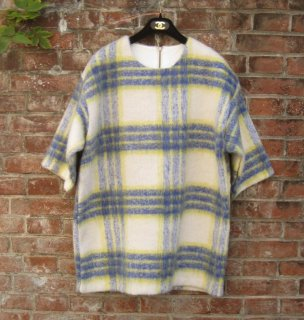 TheDelight CHEK WOOL ONE PIECE(チェック ウール ワンピース)YELLOW