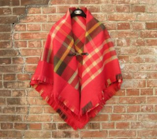 TheDelight BELT CHECK STOLE (ベルト チェック ストール)RED