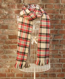 TheDelight REVERSIBLE CHECK & TIDORI STOLE BEIGE&BEIGE