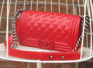 TheDelight JELLY QUILTING CHAIN BAG(ジェリー キルティング チェーン バッグ)RED
