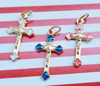 【U】TheDelight COLOR CROSS PENDANT TOP(カラー クロス)ゴールド
