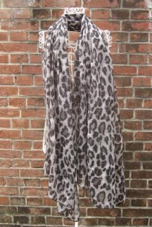 TheDelight LEOPARD STOLE(レオパード ストール)BLACK