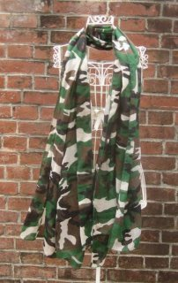 TheDelight CAMOUFLAGE STOLE GREEN