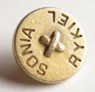 382 SONIA RYKIEL VINTAGE ロゴ ボタン ゴールド