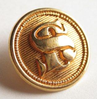 383 SONIA RYKIEL VINTAGE ロゴ ボタン ゴールド