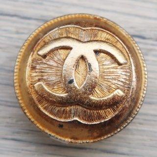 673 CHANEL VINTAGE cocoマーク デザイン  スナップボタン ゴールド