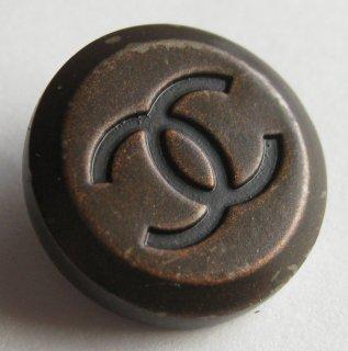 441-1 CHANEL VINTAGE(シャネル ヴィンテージ)COCO マーク デザイン  ボタン ブラウン