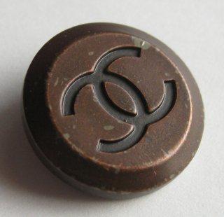 441-2 CHANEL VINTAGE(シャネル ヴィンテージ)COCO マーク デザイン  ボタン ブラウン