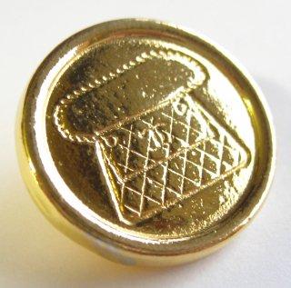 444 CHANEL VINTAGE (シャネル ヴィンテージ) マトラッセ バッグ デザイン ボタン ゴールド