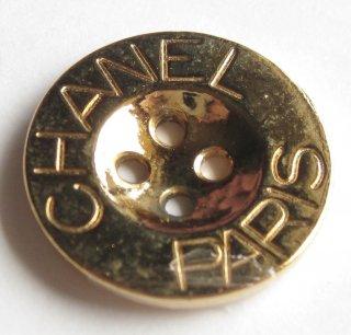 470 CHANEL(ヴィンテージ シャネル) CHANEL PARIS ロゴ ボタン ゴールド 470