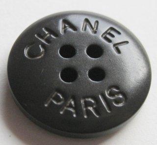 485 CHANEL VINTAGE (シャネル ヴィンテージ) CHANEL PARIS ロゴ ボタン ブラウン