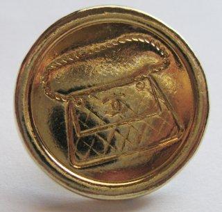 534 CHANEL VINTAGE (シャネル ヴィンテージ) COCOマーク マトラッセ デザイン ボタン ゴールド